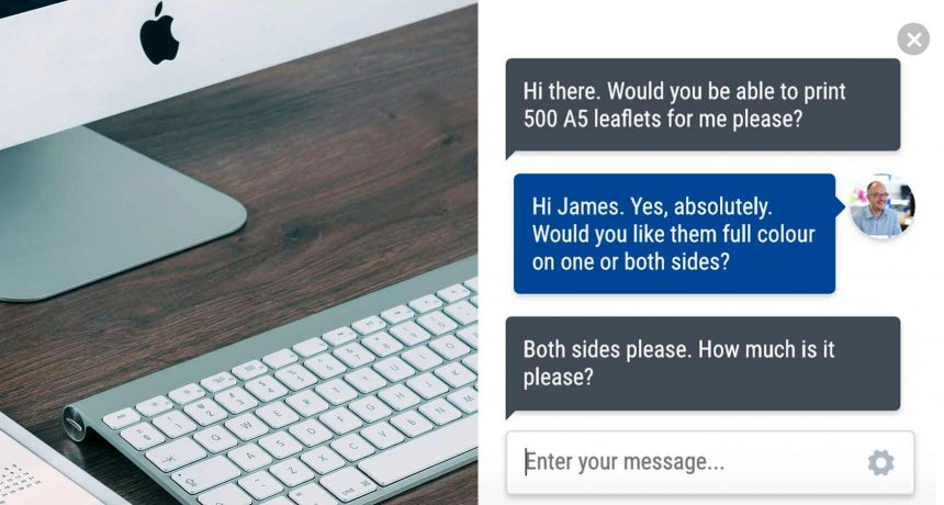 St Austell Printing Company launch new live chat feature