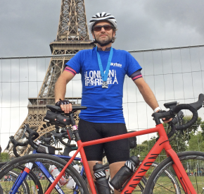 Kevin's charity pedal to Paris raises over £11,000