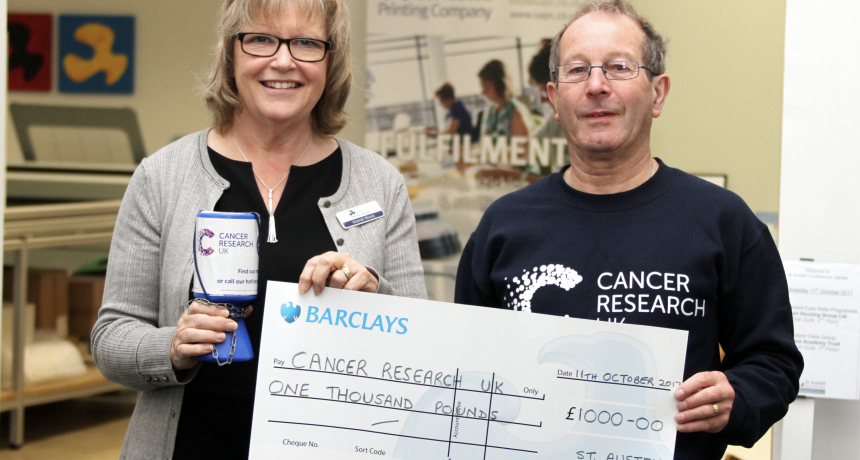 SAPC Staff and Customers raise over £1,000 for Cancer Research UK