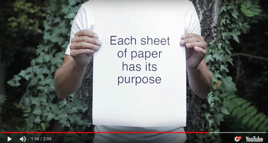 Video highlights the true power of paper