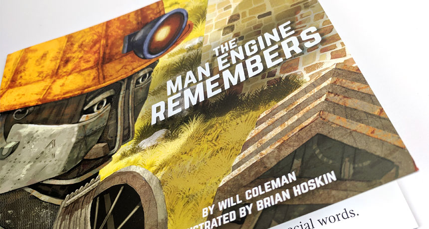 The Man Engine Remembers book – Proudly printed in Cornwall