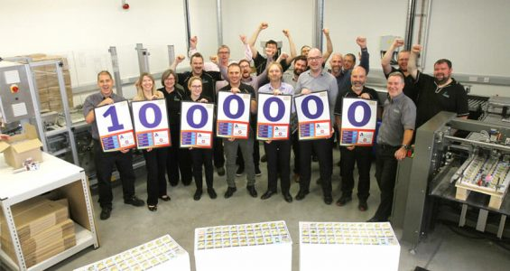 SAPC celebrate producing 1,000,000th pack of Top Trumps in Cornwall