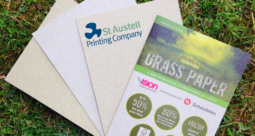 Grass paper – Paper manufactured from grass – that even smells like grass!