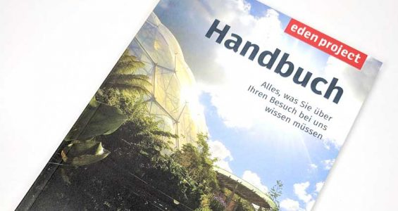FSC® paper, solar power and vegetable based inks make for a sustainable Eden Project guidebook