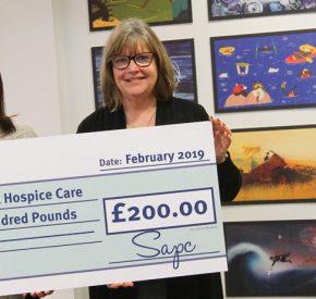 SAPC Calendar raises £200 for Cornish charity