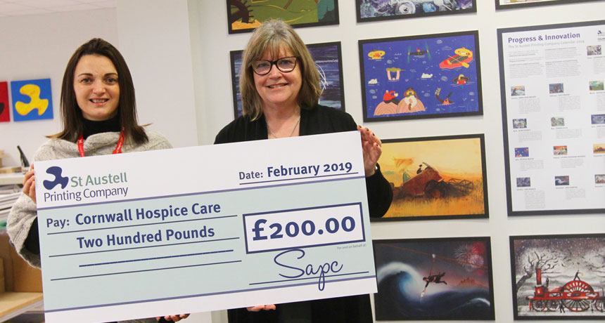 SAPC Calendar raises £200 for Cornish charity