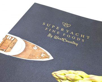 Super Yacht Fine Foods Leaflet