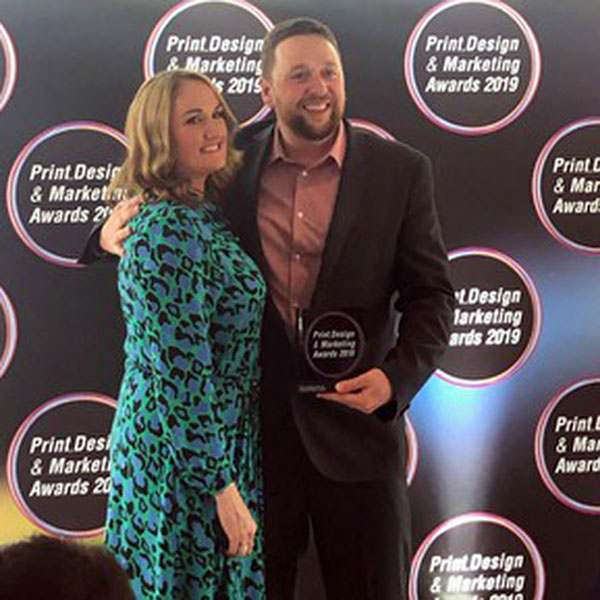 Matt Bunt accepts Green Company of the Year Award