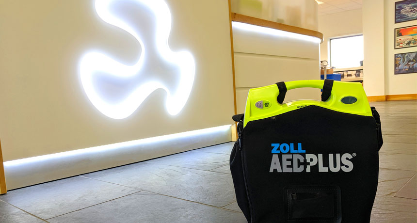 New defibrillator offers peace of mind