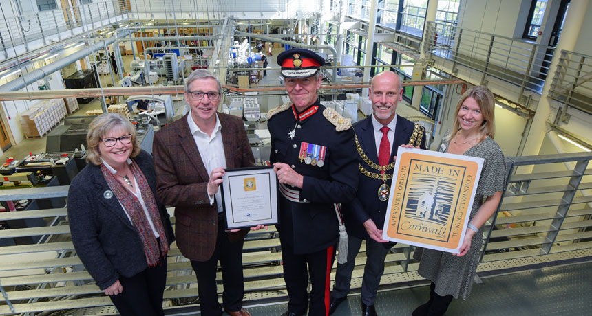"""All under one roof"" enables SAPC to receive Made in Cornwall accreditation"