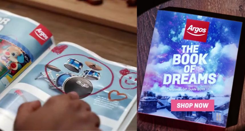 Argos puts catalogue at the heart of their Christmas TV advert