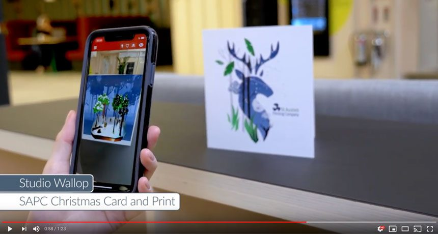 Worldwide recognition for SAPC's Augmented Reality Card and Brochure