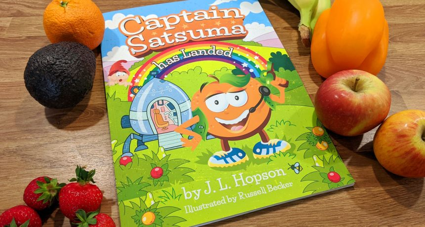 Colourful new book encourages children to eat their 'five a day'.